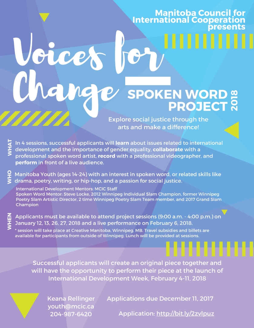 Voices for Change 2018 Poster